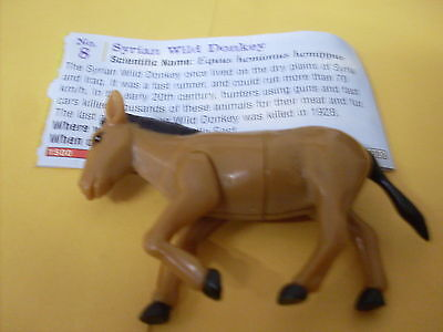 Yowies Series 9 Forgotten Friends B # 8 Syrian Wild Donkeywith Paper Intact