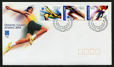 2004 Olympic Games Athens FDC First Day Cover Stamps Australia