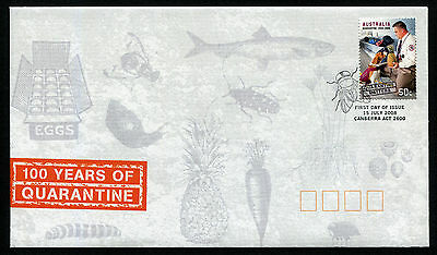 2008 100 Years of Quarantine FDC First Day Cover Stamps Australia