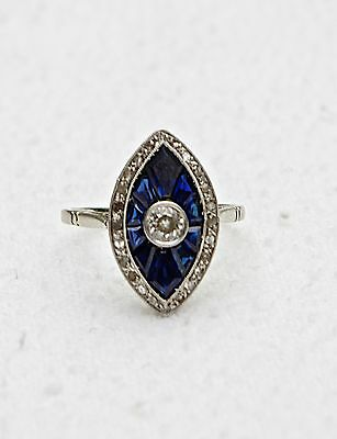Vintage Edwardian Sapphire and Diamond RIng
