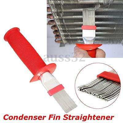 Red Universal Fin Condenser Coil Comb Brush Rake Straightener Cleaner 8.3""