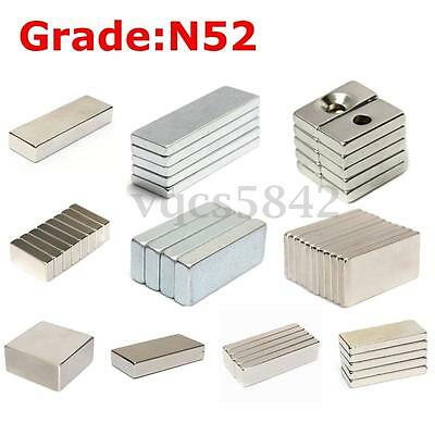 Muti-size Strong Square Block Magnet Super N52 Neodymium Rare Earth Magnets US