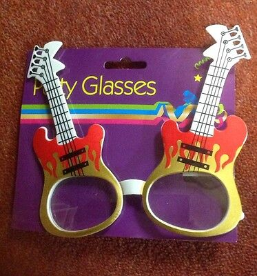 guitar party glasses