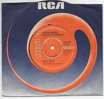 "MICHAEL NESMITH - SILVER MOON / LADY OF THE VALLEY 7"" 45 EX+ VINYL Monkees 1970"