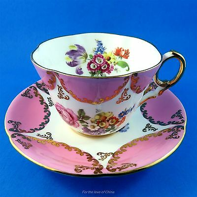 Stunning Pink and Floral Foley Tea Cup and Saucer Set