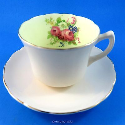 Pale Pink and Floral Foley Tea Cup and Saucer Set