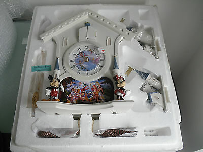 "DISNEY'S ""Happiest of Times"" Cuckoo Clock, Bradford Exchange, Limited Edition"