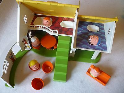 Vintage Weebles House - Made in England  - With Furniture and Weeble Family