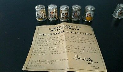Maria Innocentia Hummel Thimble Collection 11 Thimbles And Certificate From 1985