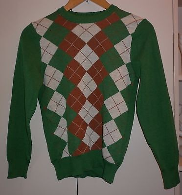 Vintage Japanese Classic Wool Jumper Small Excellent Condition