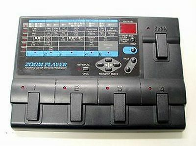 ZOOM 2020 PLAYER PRO GUITAR MULTI EFFECTS PEDAL & POWER SUPPLY Rare working