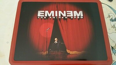 RARE Vintage THE EMINEM SHOW Metal Lunch Box Thermos 2002 MARSHALL MATHERS NECA