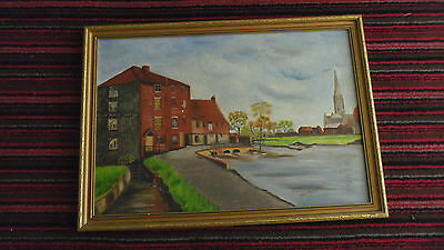 Missionary Auction Superb Oil On Board Framed, Signed, Dated, Harnham Mill