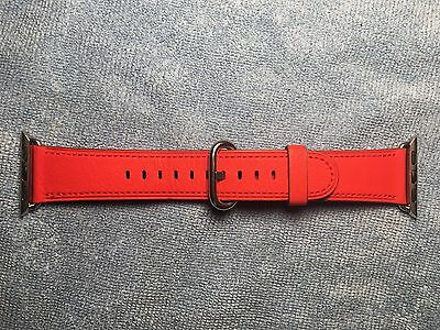Genuine Apple Watch Band 38mm Red Classic Buckle