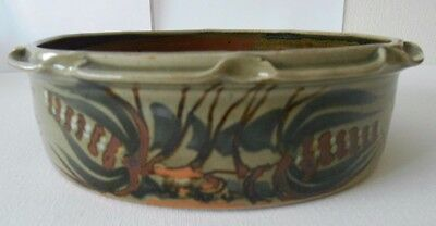 Studio Pottery Decorative Crimped Flan Pie Dish Gwili? Welsh? Unmarked
