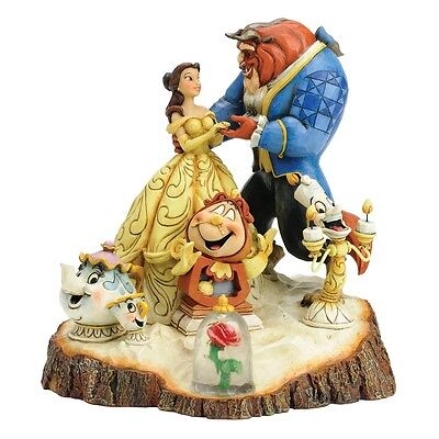 Disney Traditions Carved by Heart Beauty and the Beast Figurine New Boxed