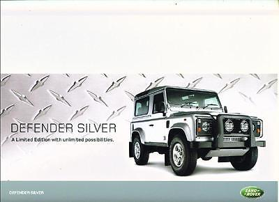 Land Rover Defender Silver Limited Edition Sales Brochure/sheet  2006