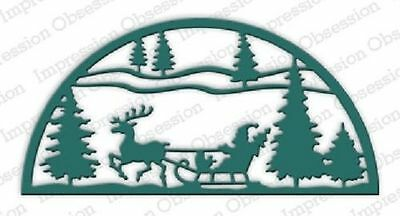 Impression Obsession SLEIGH SCENE die (471-V) Christmas, craft, scrapbooking