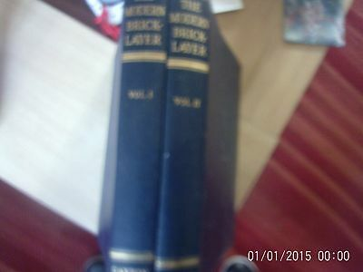THE MODERN BRICKLAYER 2volumes by William Frost (Caxton 3rd edn 1955 reprint)
