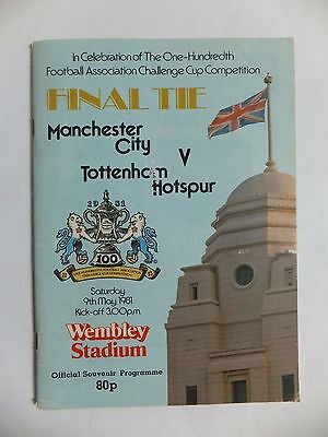 1981 FA Cup Final Programme