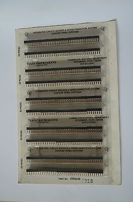 Texas Instrument 16 pin IC-sockets used in Apple 1. NOS. Original Blister Pack.