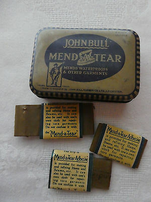 Vintage JOHN BULL mend and tear kit in its Tin