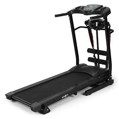 New Space Saving Electric Treadmill Black Incline Training Computer Sit Up Bench