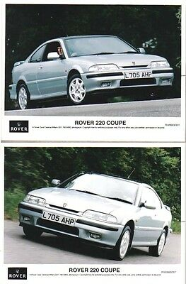 Rover 220 Coupe x 2 original 1993 colour Press Photos Nos, RH/0693/351 & 357