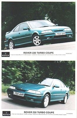 Rover 220 Turbo Coupe 1993 x 2 original col. Press Photos Nos. RH/0693/352 & 358