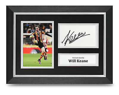Will Keane Signed A4 Photo Framed Hull City Memorabilia Autograph Display + COA
