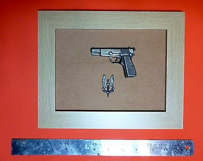 Framed Special Air Service 1/4 Scale 9mm Browning