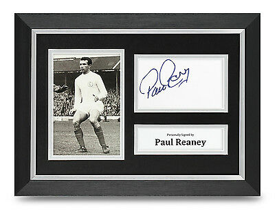 Paul Reeney Signed A4 Photo Framed Leeds United Memorabilia Autograph Display