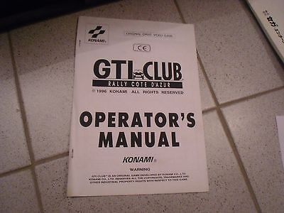 Operations Manual Anleitung für GTI Club  Videoautomat
