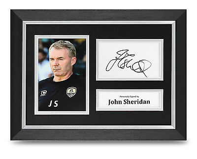 John Sheridan Signed A4 Photo Framed Notts Coutny Memorabilia Autograph Display
