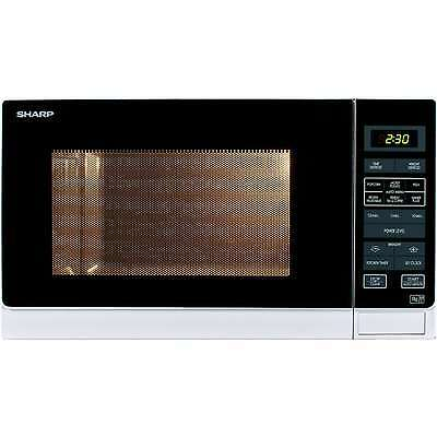 Sharp R372WM White 25 Litre Solo Microwave Oven 900W 11 Power Levels