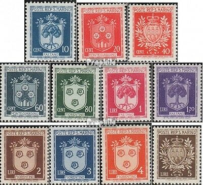 san marin 318-328 neuf avec gomme originale 1945 timbres - Crest