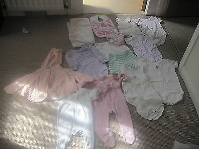 Baby  Girl's Clothes 1970's Onwards Vests Babygro's Towel Cardigan  Pants Bib