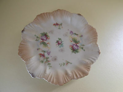 Antique Blush Ivory Hand Painted Plate