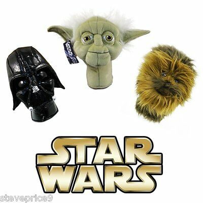 New Official Star Wars Yoda Golf Putter, Rescue Or Hybrid Wood Cover.