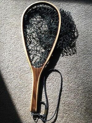Vintage Inlaid Bentwood Wood Fly Fishing Trout Landing Net Great Condition!