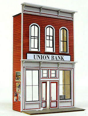 O SCALE On3/On30/On2 BANTA MODEL WORKS #6148 Union Bank FRONT ONLY.....