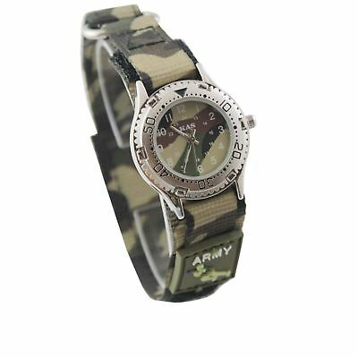 KAS Kids Army Camouflage Wrist Watch - Military Camo Print