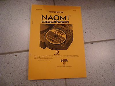 Operations Manual Anleitung für Naomi GD Rom System Videoautomat