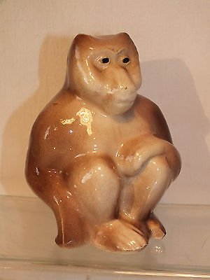 Singe Art Deco en Barbotine - Belle Statuette ancienne