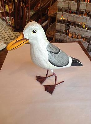 Large Wooden Seagull Carving , Fairtrade And Handmade