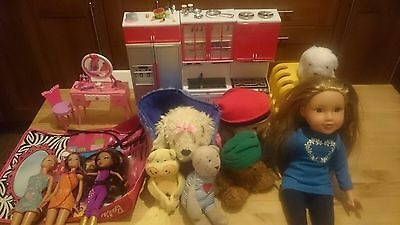 Lot Bundle Assorted Girls Toys Two Boxes