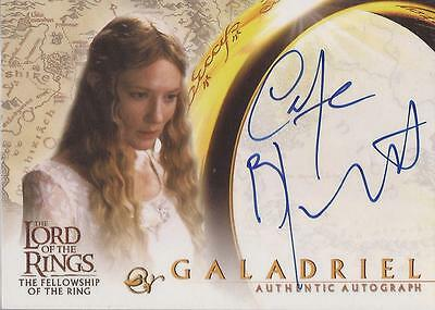 "Lord of the Rings Fellowship (Hobbit): Cate Blanchett ""Galadriel"" Autograph Card"