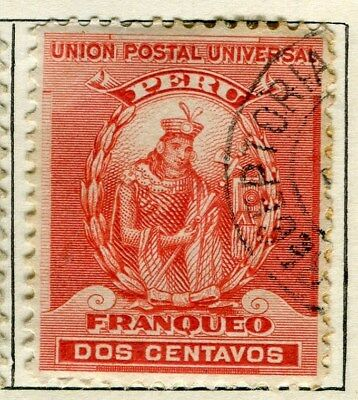 PERU;   1896 early classic issue fine used  2c. value