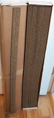 "Midwest Train Track Cork Roadbed 3' length X 1.75"" wide  case of 25 pieces  Ho"