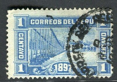 PERU;  1897 early classic issue fine used 1c. value